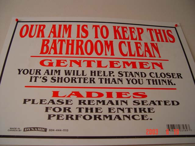 Awesome signes: keeping the toilet clean