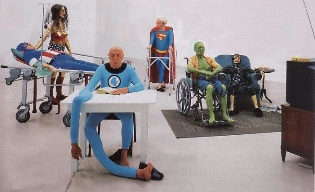 Superheroes at retirement