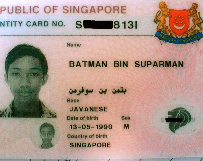 Superhero ID card