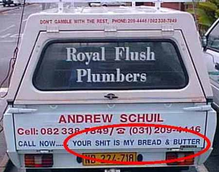 Awesome slogans: Plumbers