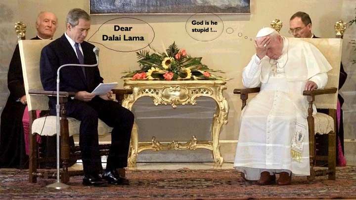 Mr. Bush with the Pope