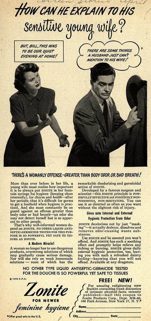 Old commercials: Feminine Hygiene