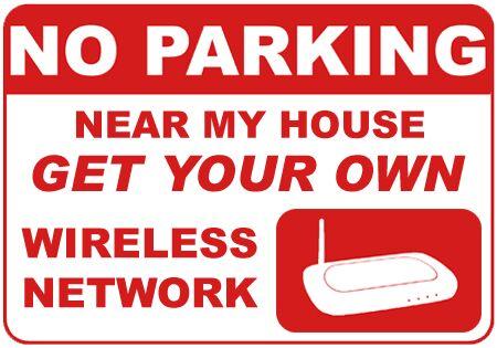 Wi-FI abuse sign