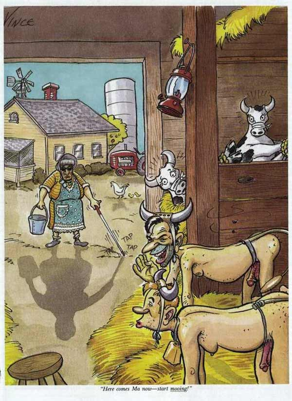 Blind Grandma and the cows
