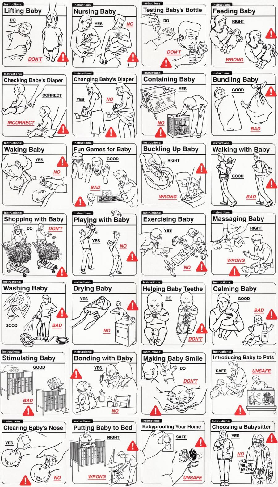 Baby illustrated instruction manual