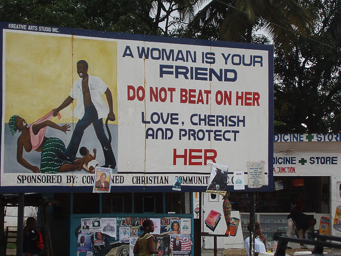 Carazy signs: A woman is your friend