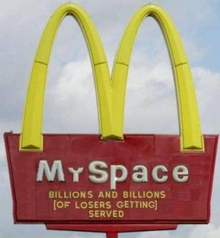 If MySpace was a fast food