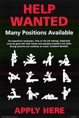 Many Positions Available
