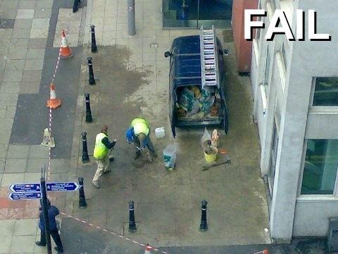 Failures: Street installations