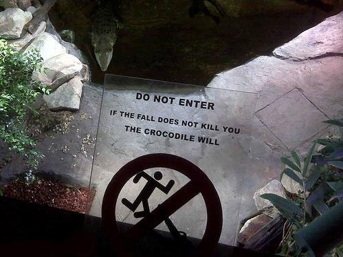 Awesome signs: At the ZOO