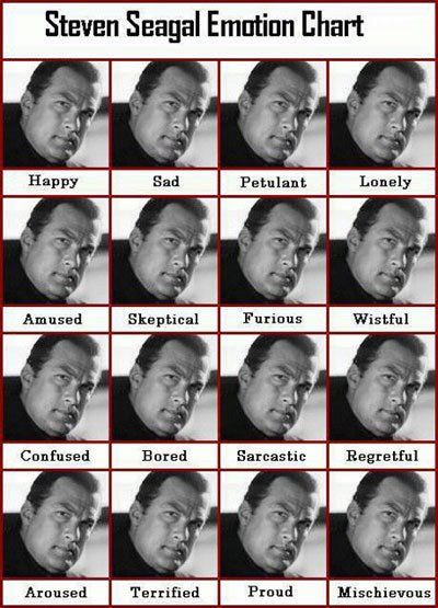 Steven Seagal emotional chart