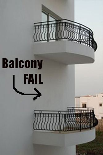 Failures: Building balconies