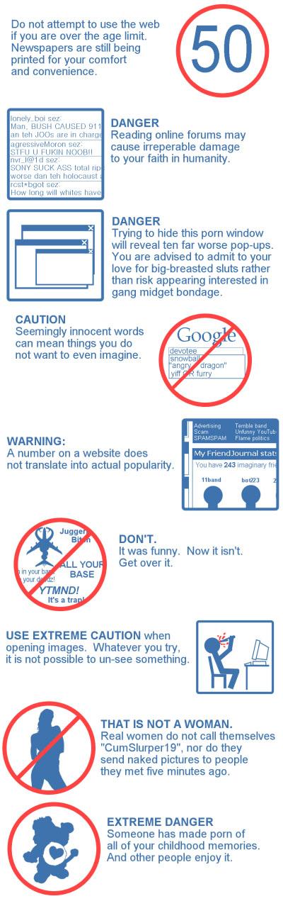 Warnings for senior internet users