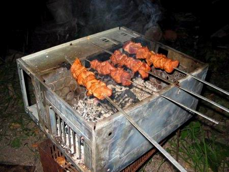 Barbecue in computer case