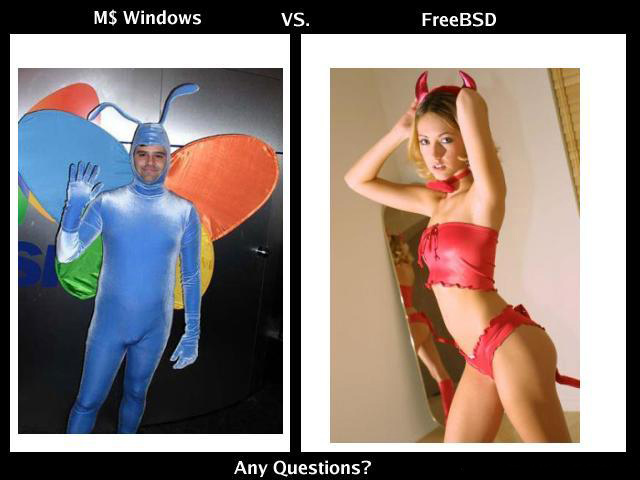 Windows vs FreeBSD