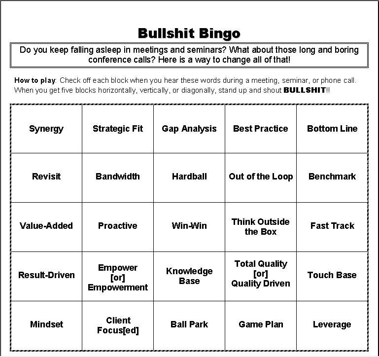Bullshit Bingo!