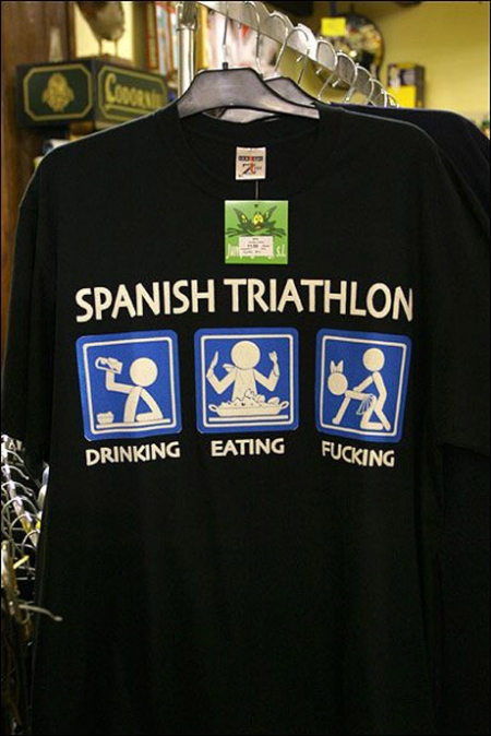 Funny T-Shirts dept. Spanish Triathlon