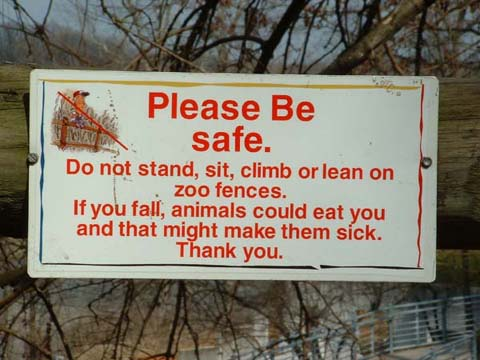 Funny signs: At the zoo