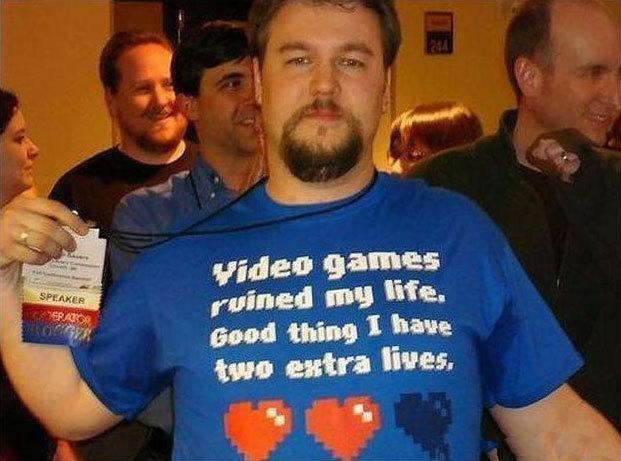 Funny T-Shirts dept. Video Games