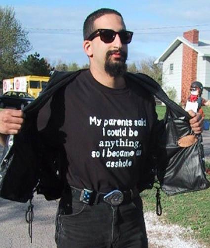 Funny T-Shirts dept. My parents said...