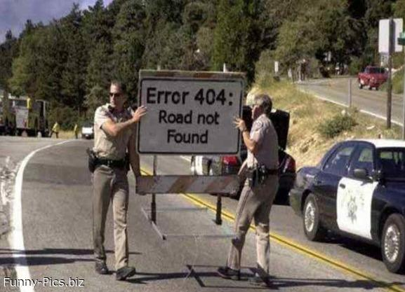 404 road not found