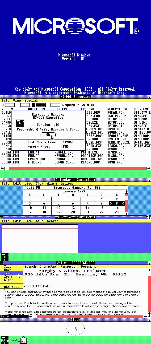 Back from the eighties Windows 1.01