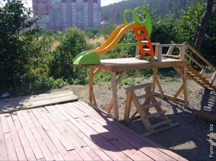 Construction fails: kids playground