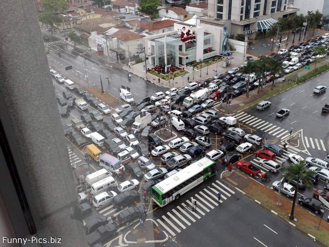 The craziest traffic jam