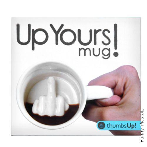Crazy Gift Ideas: Finger up mug