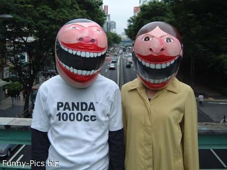 Crazy helmets
