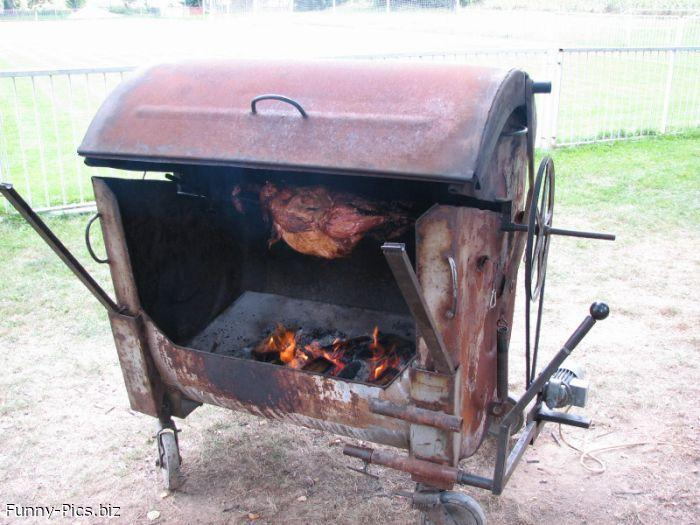Crazy Inventions: Grill from a trashcan