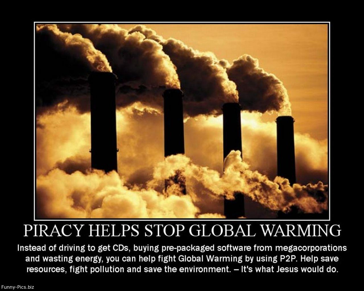 Crazy Motivationals: Piracy Stops Global Warming