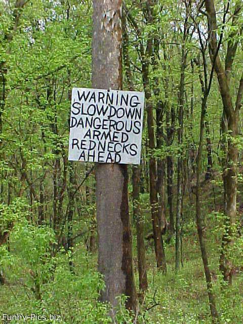 Crazy Signs: Danger in the woods