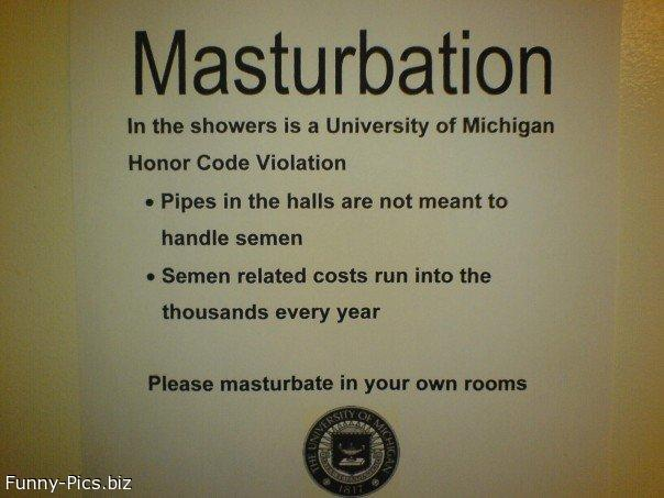 Crazy Signs: No Masturbation