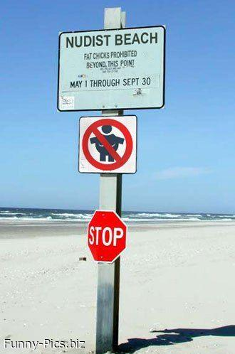 Crazy Signs: Nudist Beach