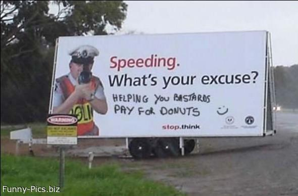 Crazy Signs: Speeding