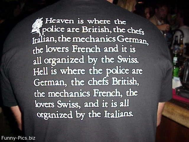 Crazy T-Shirts: Heaven and Hell