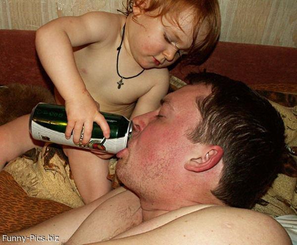 Dad loves beer