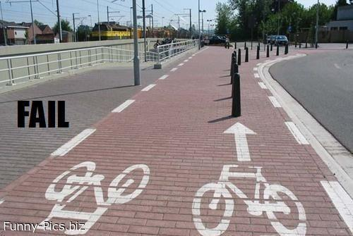 Failures: Cycle route