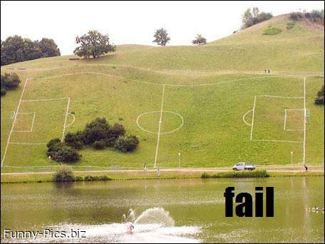 Failures: Soccer fields