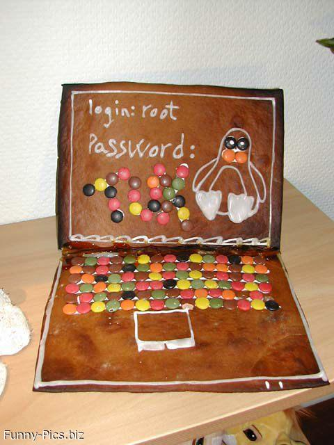 Funny Cakes: Laptop