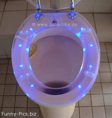 Funny Gift Ideas: Stroboscopic WC Seat