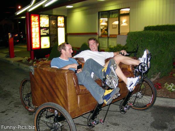 Funny Inventions: The cycle couch