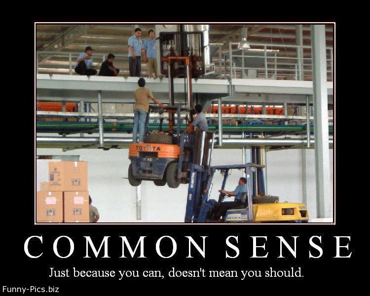Funny Motivationals: Common Sense