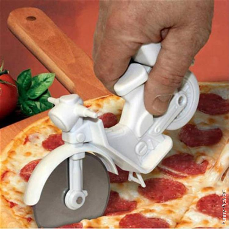 Funny pizza cutter