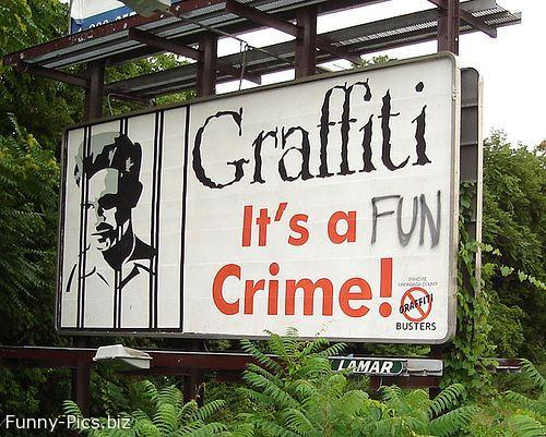 Funny signs: Graffiti