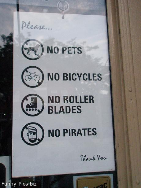 Funny Signs: Not admitted