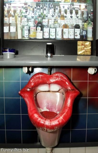Funny urinal