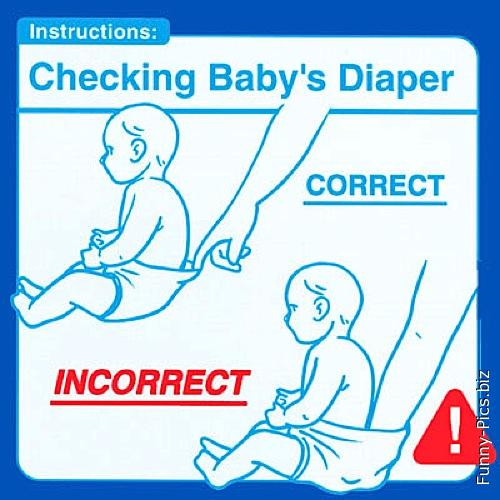How to check baby diaper
