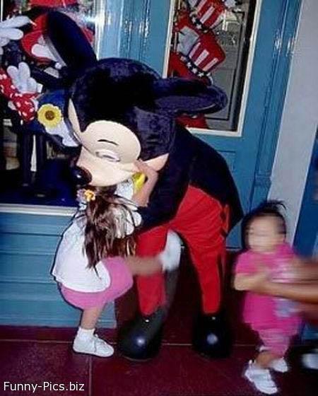 Kick on Mickey's balls